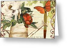 Vermont Summer Watering Can Greeting Card