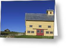 Vermont Yellow Barn 8x10 Ratio Greeting Card
