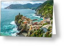 Vernazza, Cinque Terre, Liguria, Italy Greeting Card
