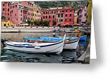 Vernazza Fishing Boats Greeting Card