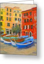 Vernazza Fleet Greeting Card