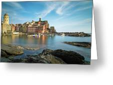 Vernazza Golden Hour Greeting Card