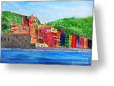 Vernazza Italy Greeting Card