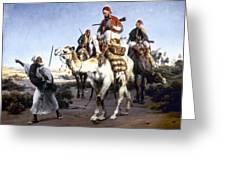 Vernet: Arabs, 1843 Greeting Card