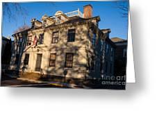 Vernon House Newport Rhode Island Greeting Card