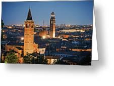 Verona At Night Greeting Card