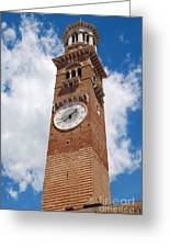 Verona Italy - Beautiful Torre Dei Lamberti Greeting Card