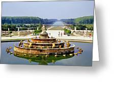 Versailles Garden Greeting Card