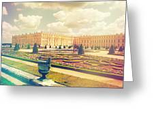 Versailles Gardens And Palace In Shabby Chic Style Greeting Card
