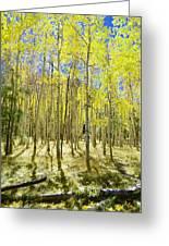 Vertical Aspen Forest Greeting Card