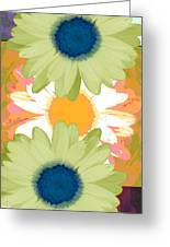 Vertical Daisy Collage II Greeting Card