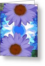 Vertical Daisy Collage Greeting Card