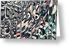 Vertical Graphic Layers Greeting Card