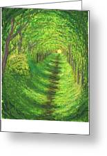 Vertical Tree Tunnel Greeting Card