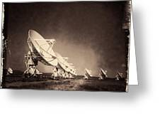 Very Large Array Sepia Greeting Card