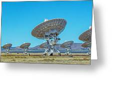 Very Large Array Side View Greeting Card