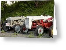 Very Old Ford Tractors Greeting Card