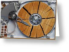 Very Old Hard Disc Greeting Card