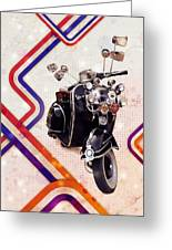 Vespa Mod Scooter Greeting Card