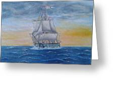 Vessel At Sea Greeting Card
