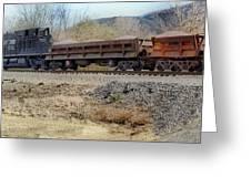 Vesuvius Train Greeting Card