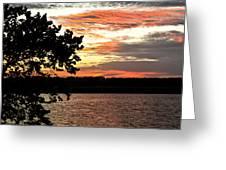 Veteran's Lake Sunset Greeting Card