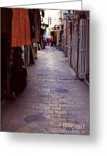 Via Dolorosa The Way Of Sorrow Greeting Card