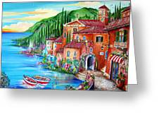 Via Positano By The Lake Greeting Card