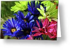 Vibrant Chrysanthemums Greeting Card