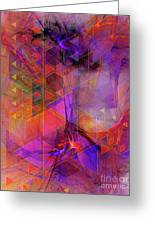 Vibrant Echoes Greeting Card
