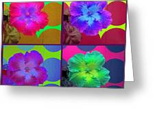Vibrant Flower Series 2 Greeting Card by Jen White