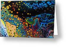 Vibrant Galaxy. Greeting Card