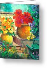 Vibrant Garden Greeting Card