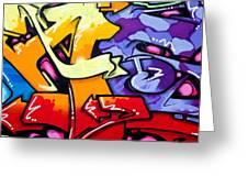 Vibrant Graffiti Greeting Card by Richard Thomas