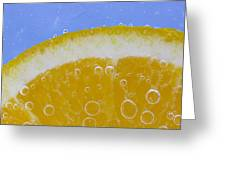 Vibrant Orange Greeting Card