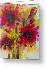 Vibrant Pink Poppies Greeting Card