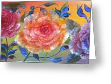Vibrant Roses Greeting Card