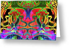 Vibrant Swirls Greeting Card