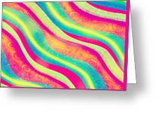 Vibrant Waves Greeting Card