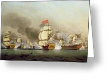 Vice Admiral Sir George Anson's Greeting Card by Samuel Scott