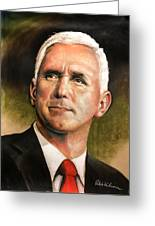 Vice President Mike Pence Portrait Greeting Card