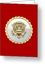 Vice Presidential Service Badge Greeting Card