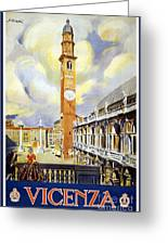 Vicenza Italy Travel Poster Greeting Card