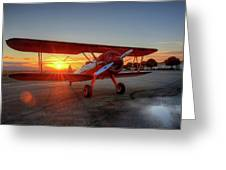 Vicky Benzings 1942 Boring Stearman At Livermore Greeting Card