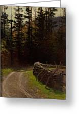 Victor Coleman Anderson  1882  1937 Road By The Woods Greeting Card