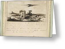 Victor Hugo   Landscape   1837 Greeting Card