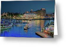 Victoria At Night Greeting Card