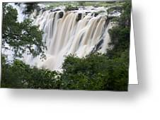 Victoria Falls Waterfall Framed Greeting Card by Roy Toft
