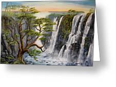 Victoria Falls Zimbabwe  Greeting Card