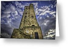Victoria Tower Castle Hill Huddersfield 4 Greeting Card